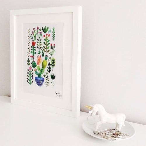 Paintings by Rosie Harbottle seen at Private Residence - Succulent Print