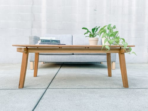 Tables by Oliver Inc. Woodworking seen at Creator's Studio, Pasadena - Belfry Coffee Table