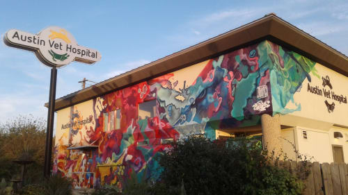 Murals by J MUZACZ seen at Austin Vet Hospital, Austin - Splash