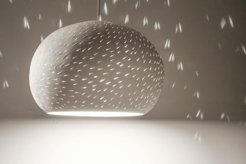 "LARGE CLAYLIGHT PENDANT : 12"" Pendant Lamp | Pendants by lightexture | Punta Cabras in Santa Monica"