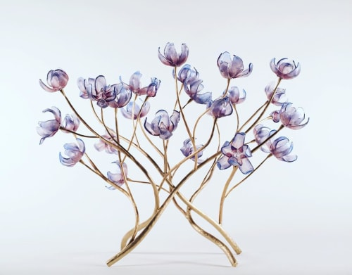 Sculptures by Elizabeth Lyons Glass seen at Private Residence, Rochester - Branching Magnolia