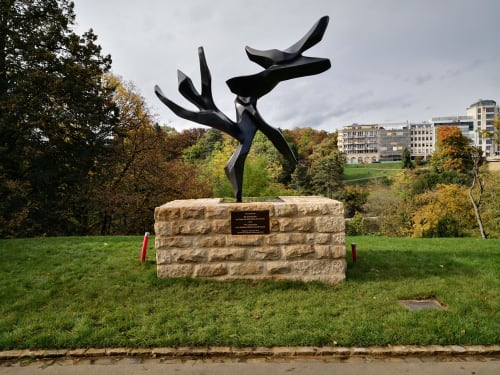 Public Sculptures by Hedva Ser seen at Luxembourg - Tree of Peace