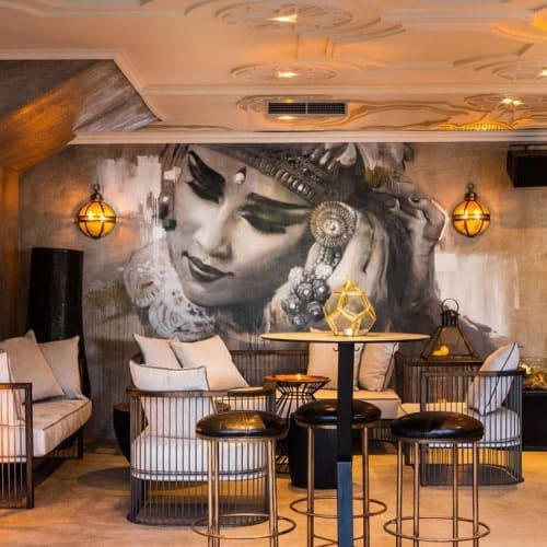 Murals by ART BY NASIMO seen at Horizont Club, Varna - Bali Dancer