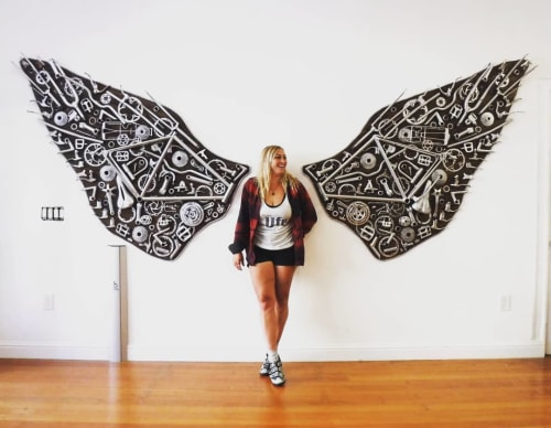 Sculptures by Shannon Glasheen seen at SFC San Francycle, San Francisco - Bicycle Wings