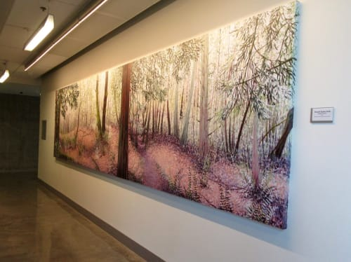 """Paintings by Angelita Surmon seen at Southeast Division Street & Southeast 82nd Avenue, Portland - """"Powell Butte Path."""""""