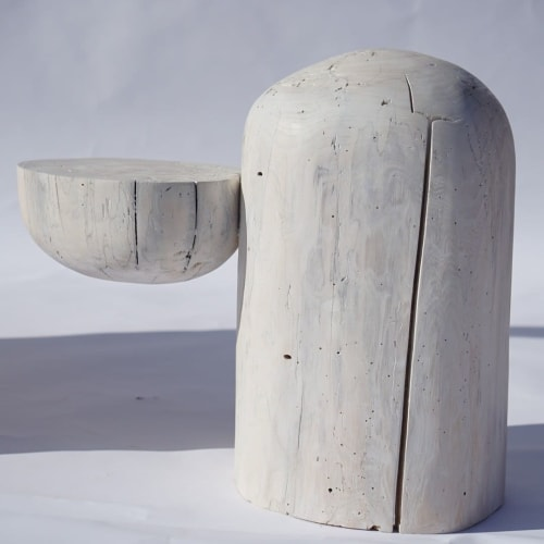 Tables by Jack Rabbit Studio seen at NINA Z, Hudson - Stump Side Table