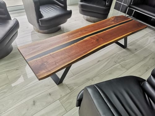 Tables by AngleWood seen at Private Residence, Toronto - Walnut River Coffee Table