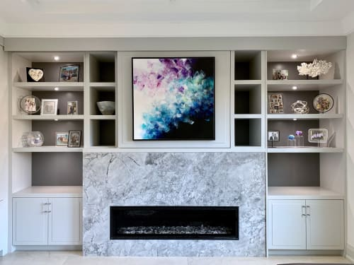"Paintings by Deniz Altug seen at Private Residence, Toronto - Feeling in balance | 40"" x 40"""