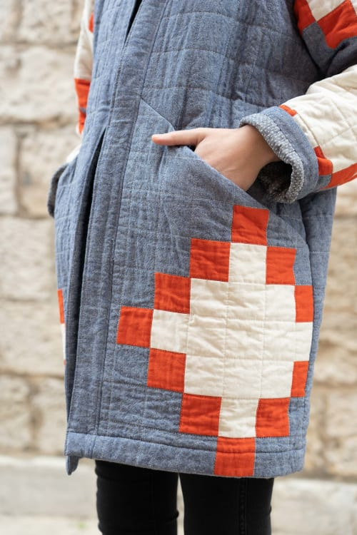 Apparel & Accessories by Vacilando Quilting Co. seen at Ruby Beach - West Quilt Coat