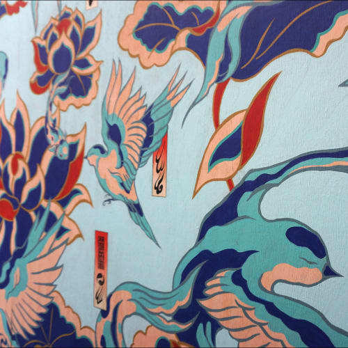 Paintings by Creature Creature seen at Private Residence, Collingwood - Blue Bloom