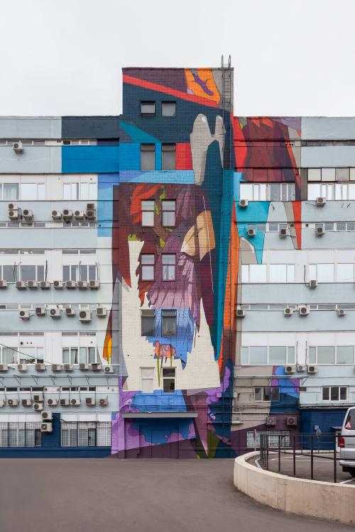Murals by Anatoly Akue seen at Pervyy Moskovskiy Priborostroitel'nyy Zavod Im. V.a. Kazakova, Moskva - Mpz Factory project
