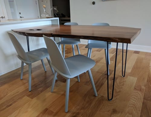 Tables by Raleigh Slabs seen at Private Residence, Durham - Redwood Slab Dining Table