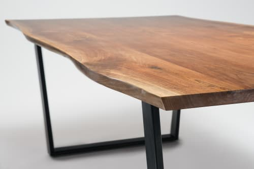 Tables by Ogelby Woodworks seen at Private Residence, Sarasota - Asym Dining Table