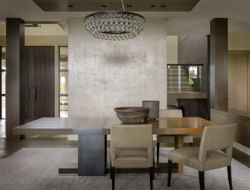 Tables by LUMA Design Workshop seen at Private Residence, Clyde Hill - Strap Dining Table