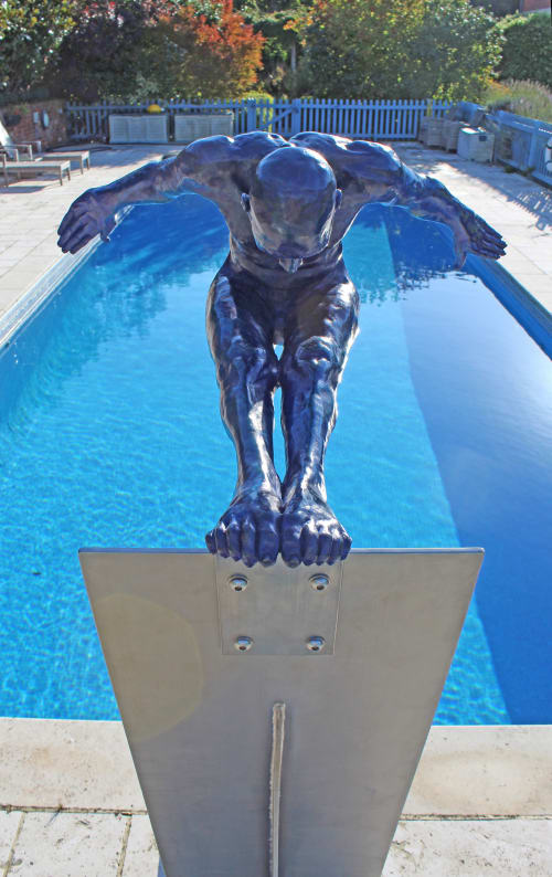 Sculptures by Teresa Wells Sculptor seen at Private Residence, Bedford - Leap of Faith