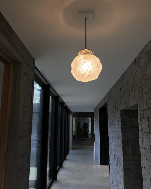 Pendants by Jess Wainer at Private Residence, Atherton - Stone Sphere