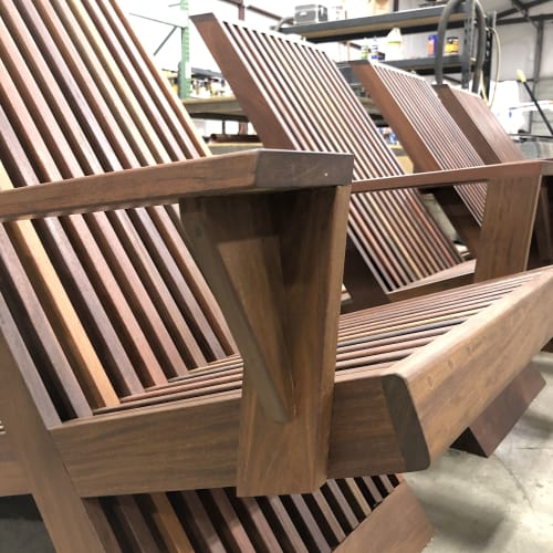 Chairs by Stål Timber - Design and Build Company at RESULTS Center, Flower Mound - Stål Lounge Chairs