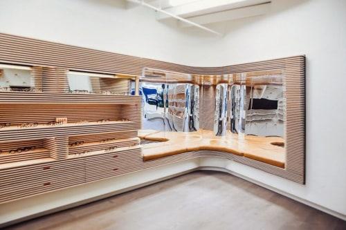 Furniture by Maneuver Works seen at Garrett Leight California Optical, New York - Custom Display