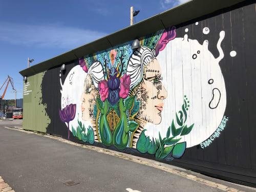 Street Murals by Ebba Chambert seen at Packhusplatsen, Nordstaden - beetle