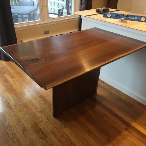 Tables by Jason Ballard Designs seen at Private Residence, Grafton - Walnut Table