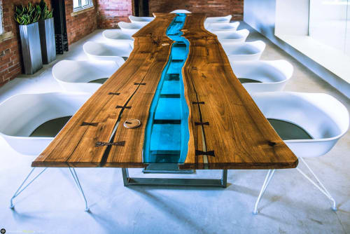 Tables by Revive Furniture seen at Lancashire - American Black Walnut Boardroom Table