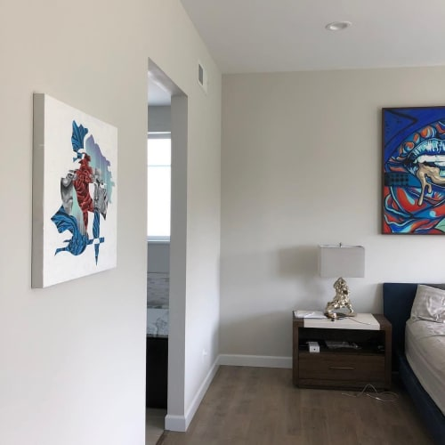 Paintings by Trent Thompson seen at Private Residence, San Diego - Commissioned Paintings