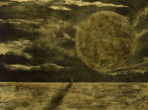Paintings by Roberta Volpe seen at Creator's Studio, London - The Dreamer