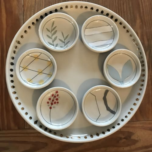 Tableware by Amy Halko Ceramics at Private Residence, Cleveland Heights - Seder Plate