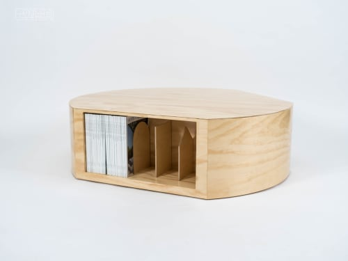 Tables by Cush Design Studio seen at Private Residence, Brooklyn - Turn Table