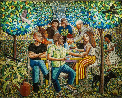 Murals by Jim Anderson seen at Addenbrooke's Hospital, Cambridge - Addenbrooke's Mosaics