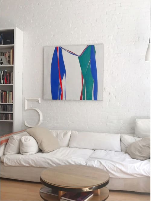 Paintings by Joanne Freeman seen at Private Residence, New York - Flying without a net