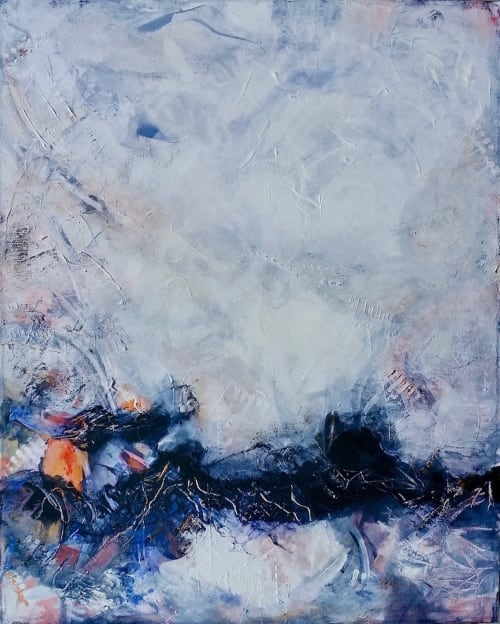 Paintings by Connie O'Connor seen at Private Residence - In Balance Abstract Series 'In Neutral' painting