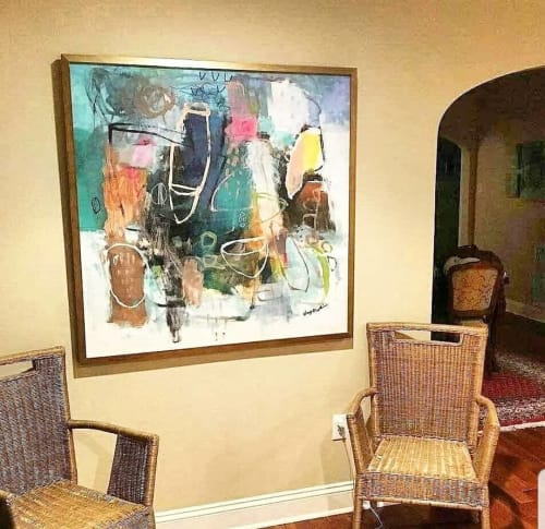 Paintings by Wendy McWilliams seen at Private Residence, Nashville - Abstract painting