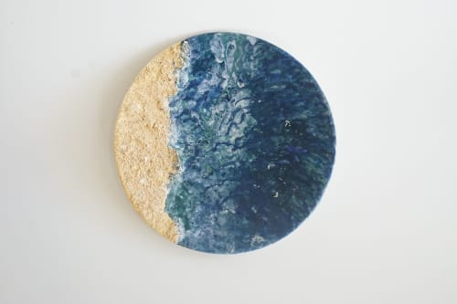 Art & Wall Decor by Amelia Johannsen seen at Private Residence, Barcelona - Hidden Cove, Decorative Ceramic Plate