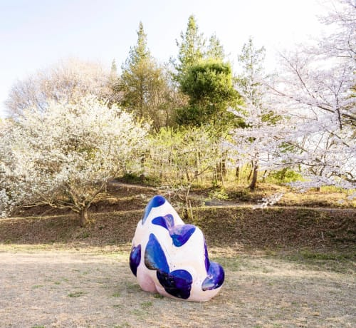 Public Sculptures by SHIOYA Ryota seen at Shigaraki Ceramic Cultural Park, Koka - Monogoshi (2018-4)