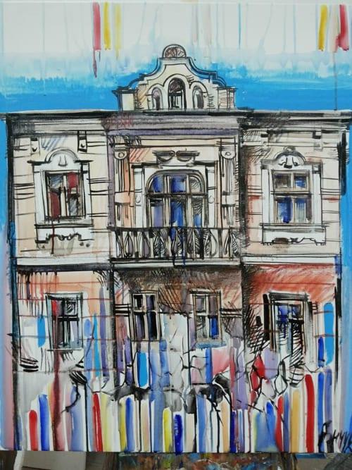 "Street Murals by Roman Bonchuk seen at Ivano-Frankivsk, Ivano-Frankivsk - Picture-mural ""Frankivsk, which will not be..."""