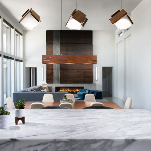 Pendants by Cerno seen at Private Residence, Paradise Valley - Mica Pendant