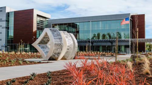 Public Sculptures by Creative Machines seen at VA San Jose Clinic, San Jose - Camaraderie