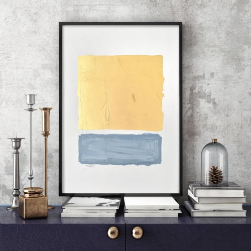 Paintings by Nicolette Atelier seen at Creator's Studio, Washington - Gilded Bar Blue No. 1