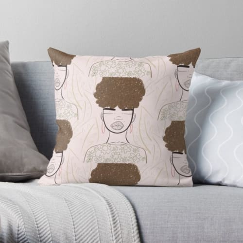 Pillows by Peace Peep Designs seen at Private Residence - Pillow