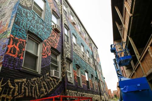 Murals by ESOTERiC Calligraffiti seen at Punto Urban Art Museum, Salem - Rings Mural