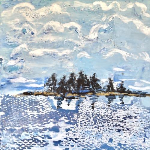 Paintings by willa vennema seen at Creator's Studio, Portland - Islands and Ocean Series: Little Island