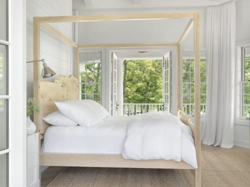 Beds & Accessories by Goebel & Co. Furniture seen at Torch Lake, Michigan - Orpheus Canopy Bed