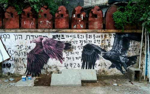 Street Murals by Alaniz seen at Udaipur, Udaipur - Where eagles dare