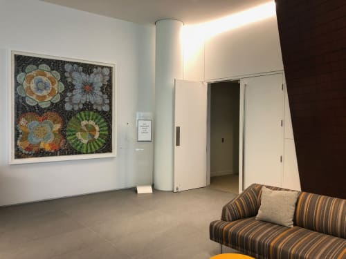 Paintings by Troy Dugas seen at Capital One Headquarters, McLean, Virginia, McLean - public space