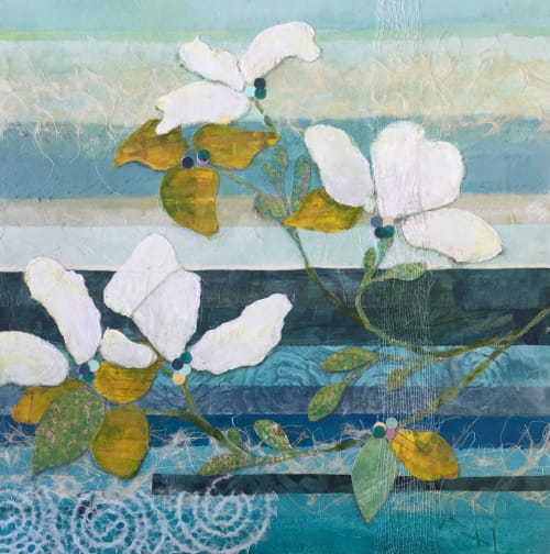 Paintings by Kathy Ferguson Art seen at Private Residence, San Francisco - Dogwood Two