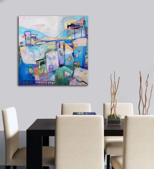 Paintings by Haleh Mahbod Art seen at Private Residence, Saratoga - Dreaming of San Francisco