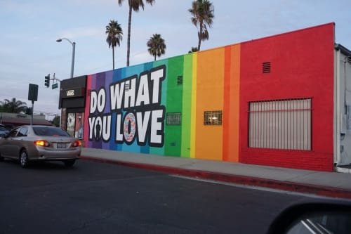 Street Murals by Ruben Rojas seen at Vans, Los Angeles - Do What You Love
