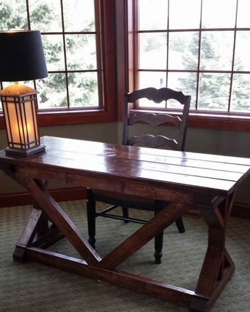 Tables by Wisconsin Farmhouse seen at Private Residence, Middleton - Writing Desk