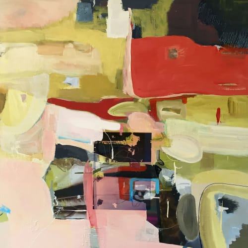 Paintings by Irene Nelson seen at 201 California St, San Francisco - Abstract Geography